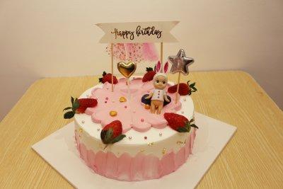【韵味达】生日蛋糕 粉色童年8寸