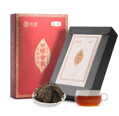 【买一送一】中茶 手筑茯砖茶 甘醇金茯 950g