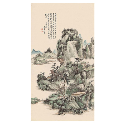 黄宾虹 山水图一