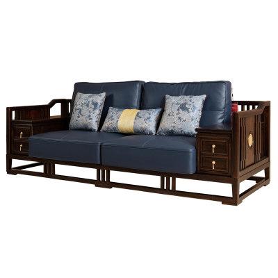 新中式简约纯实木客厅沙发三人位沙发