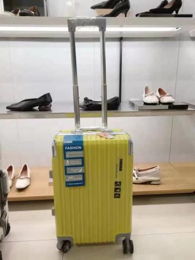 袋鼠黄色行李箱 20寸