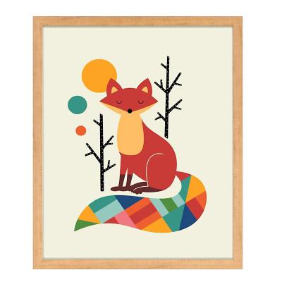 装饰儿童画狐狸小树8-3 钜惠购 满340元立减108.89元,使用融汇通支付再立减100元