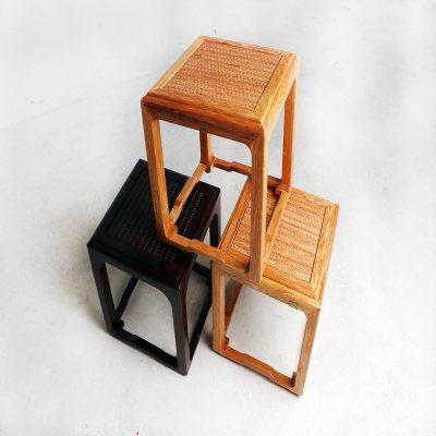 纯实木简约大气仿席面四脚凳茶凳休闲凳