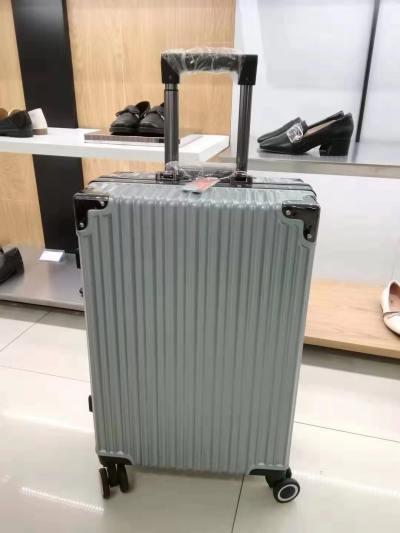 袋鼠银色行李箱 22寸