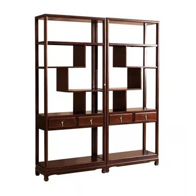 新中式现代纯实木书房茶室办公室多宝阁