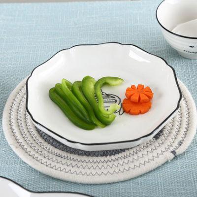 顺祥陶瓷新梦想4人欧式碗碟套装家用创意西餐盘菜盘鱼盘碟子餐具