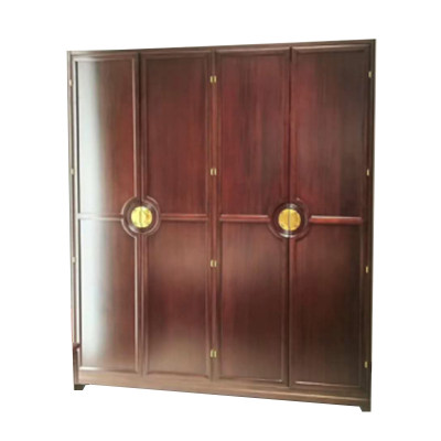 新中式现代简约纯实木卧室四门衣柜