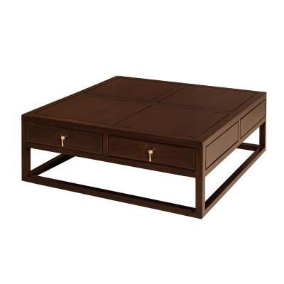 新中式现代简约纯实木客厅休闲室茶室书房方茶几