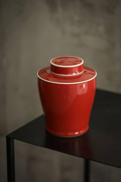 霁红茶叶罐