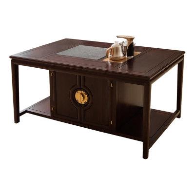 新中式现代纯实木茶室书房休闲茶台
