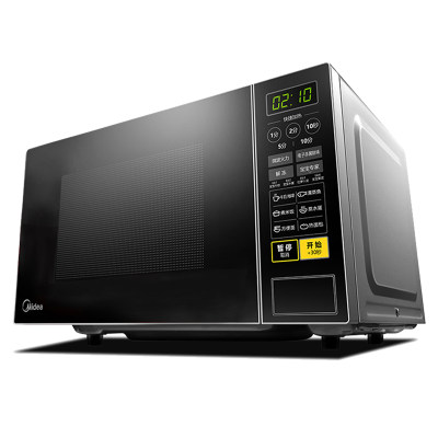美的快捷微波炉 微电脑操控 360°转盘加热 智能蒸煮菜单 21升