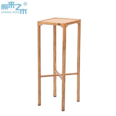 原来之木纯实木小家具造型花架复古简约置物实木花架家用花几