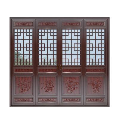 极泰栗木实木窗中式古典系列