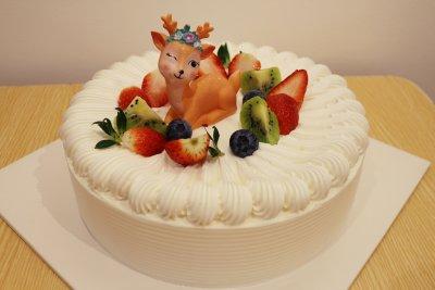 【韵味达】生日蛋糕 田园小鹿 8寸