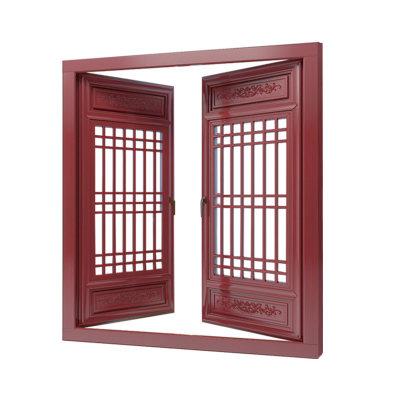 极泰栗木实木窗中式国风系列