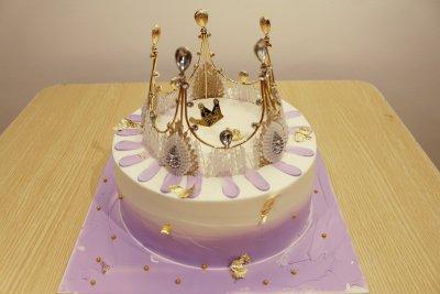 【韵味达】生日蛋糕 公主皇冠 8寸