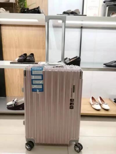 袋鼠粉色行李箱 24寸