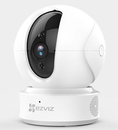 海康威视萤石云C6HN家用摄像头1080P室内360度wifi无线监控器 白色 32GB 720p 4mm