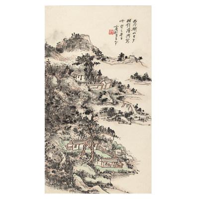 黄宾虹 西冷湖山图