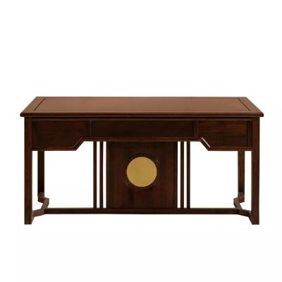 新中式现代简约纯实木书房茶室休闲室办公室书桌
