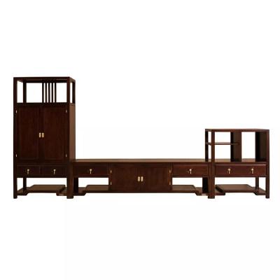 新中式现代简约纯实木客厅休闲室茶室组合电视柜