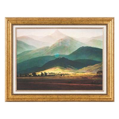 油画卡斯帕-大卫巨人山-弗利德里希 Riesengebirge的景色