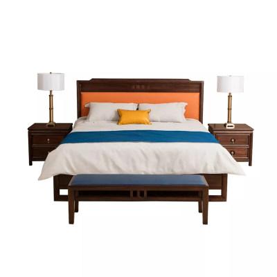 新中式现代简约纯实木卧室床头
