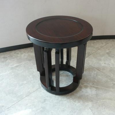新中式现代简约纯实木卧室妆台妆镜梳妆凳妆凳鼓凳