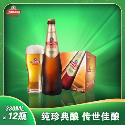 青岛啤酒香格里啤酒青岛啤酒香格里拉450ml*12瓶/箱黄啤酒青啤