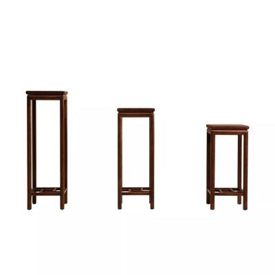 新中式现代简约纯实木休闲客厅卧室书房休闲室花架(低)
