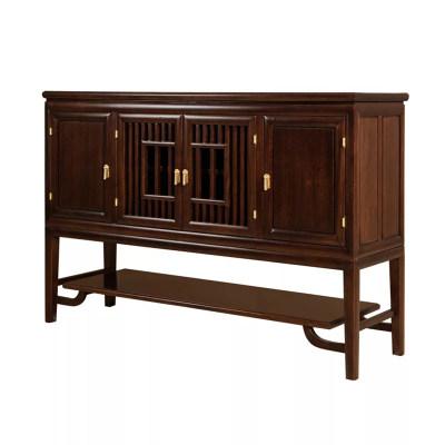 新中式现代纯实木餐厅餐边柜