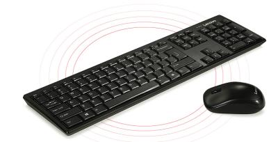 联想KN100无线键盘鼠标套装的 黑色