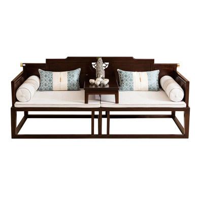 新中式现代纯实木休闲卧室书房茶室罗汉床