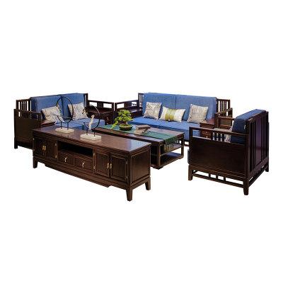 新中式现代简约纯实木客厅沙发(1+2+3)