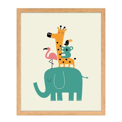 装饰儿童画长颈鹿大象5-3 钜惠购 满340元立减108.89元,使用融汇通支付再立减100元
